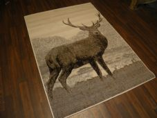 Modern Approx 6x4 120x170cm Woven Backed Stag Rugs Sale Top Quality Greys